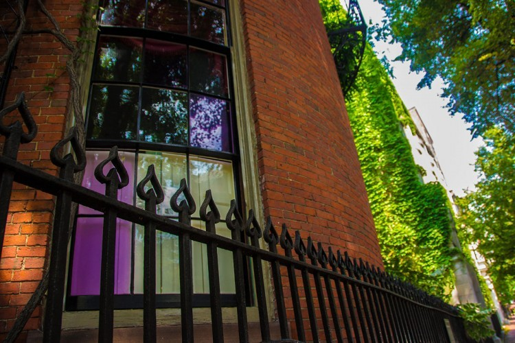 That Purple Haze in the Windows of Some Boston Brownstones Explained