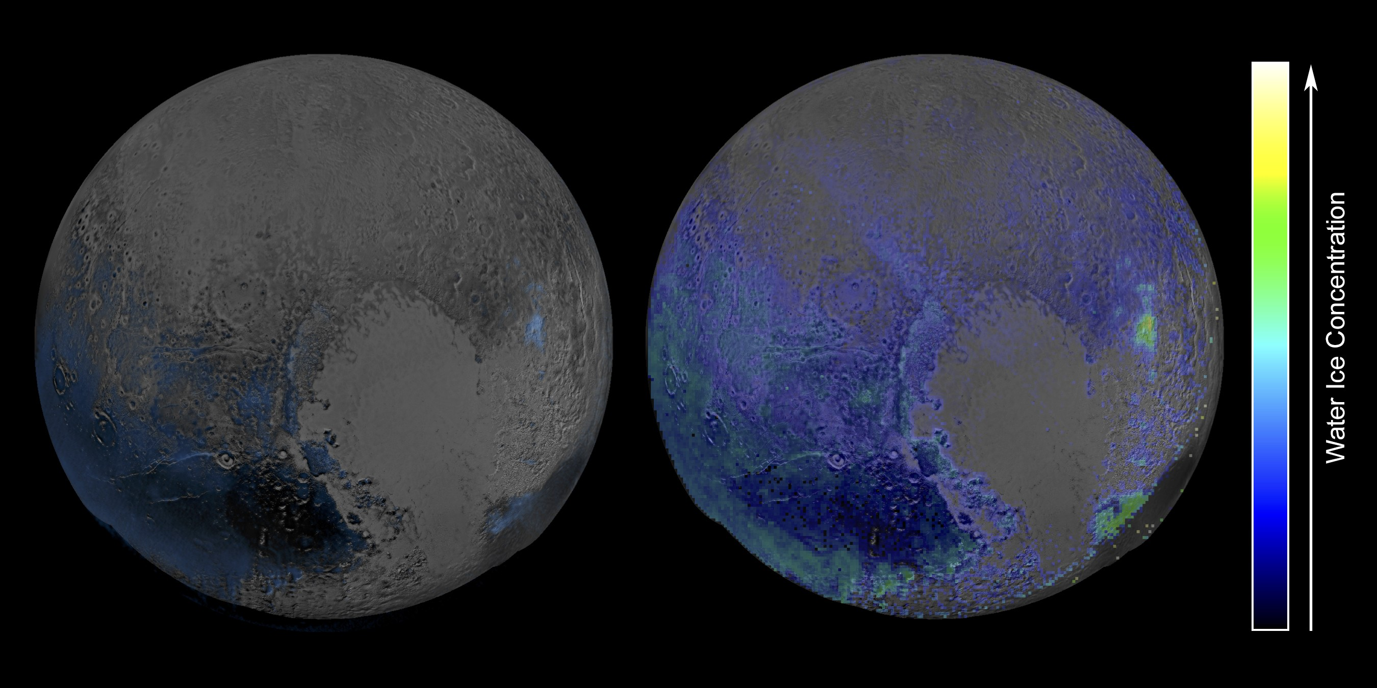 Pluto has Much More Water Ice than Previously Thought