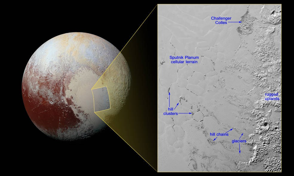 New Pluto Oddity: Floating Water Ice Hills