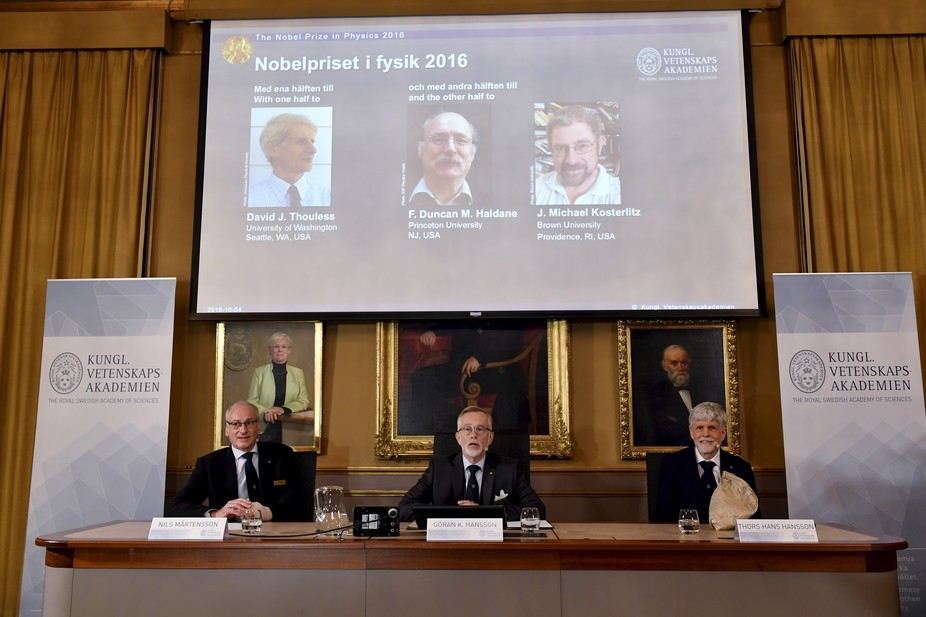 Odd states of matter: how three British theorists scooped the 2016 Nobel Prize for Physics