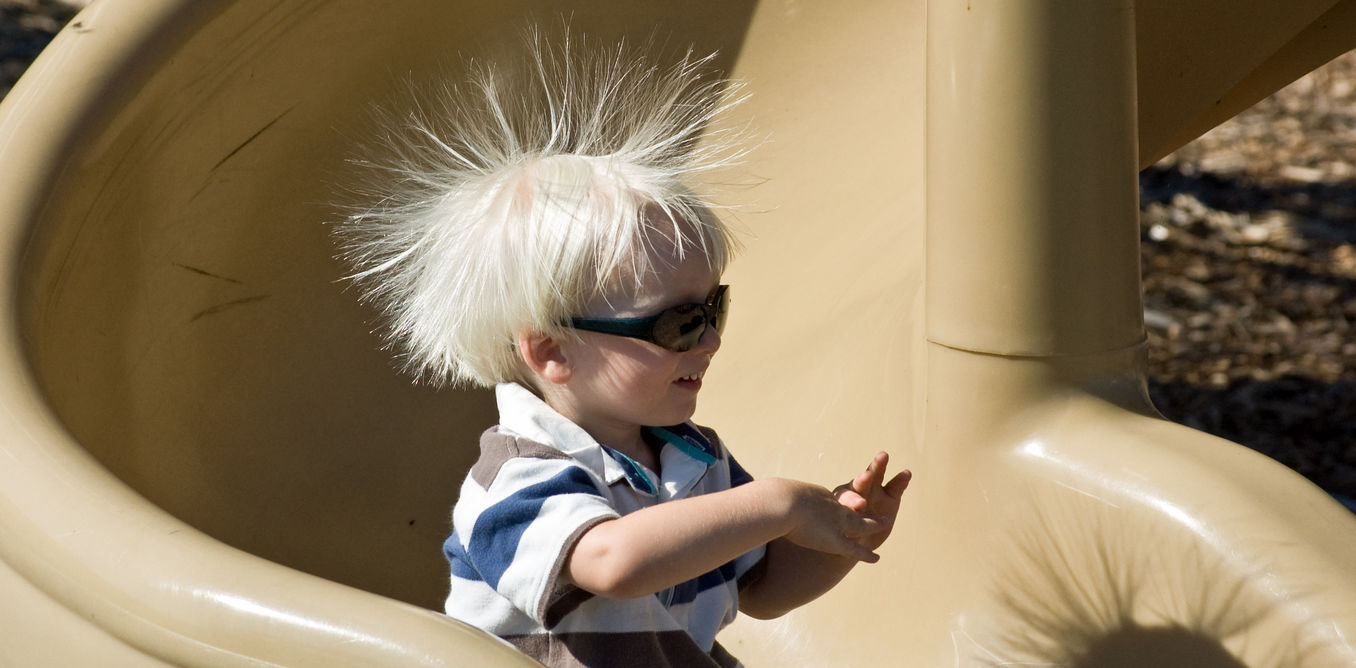Static electricity's tiny sparks