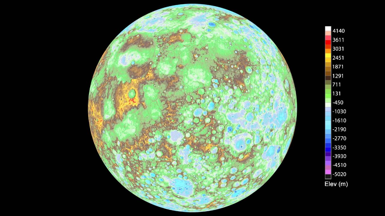 Digital Model of Mercury Created with 100,000 Messenger Images [Video]